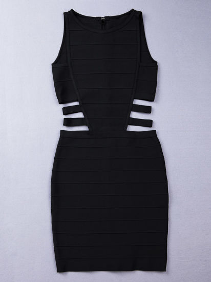 Black Women Casual Bandage Sleeveless Dresses pictures & photos
