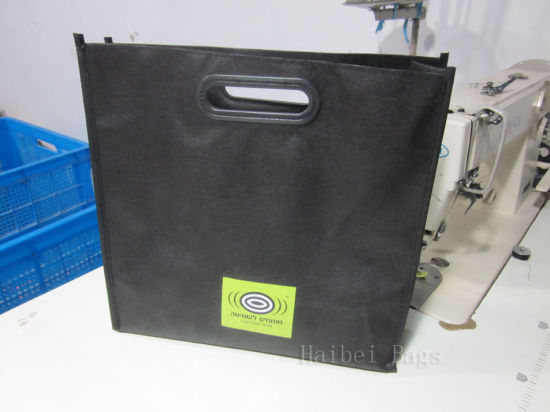 Carrier PP Non Woven Tote Shopping Bag with Die-Cut Handles (hbnb-536)