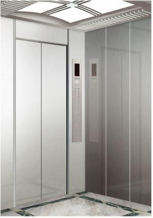 Economic Type Passenger Elevator with Machine Room for Russian-Speaking Countries with Etching Car Cabin