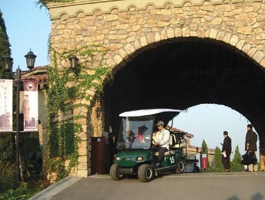 Champagne 4 Passengers Electric Golf Car