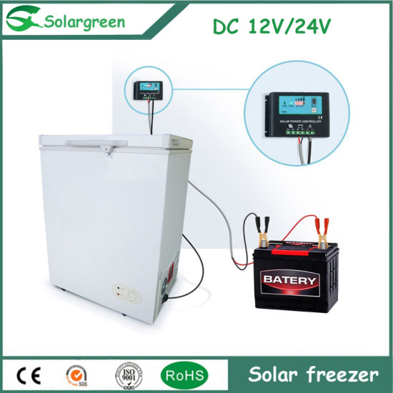 45W Power Consumption White Color Solar Freezer for Home