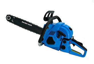 Air Cooling Gas Powered Chain Saw with Dual Metal Blade 600mm Length