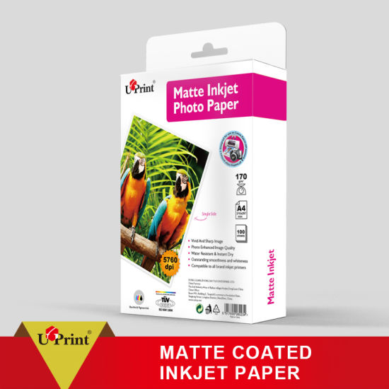 108GSM/128GSM/180GSM/200GSM/230GSM/250GSM Matte Photo Paper /Color Inkjet Paper