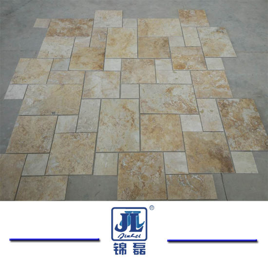 Natural Honed French Cut Beige Travertine For Kitchen/Bathroom/Livingroom/Swimming  Pool/ Floor Tile/Mosaic Tile/Fireplace Slab Tile