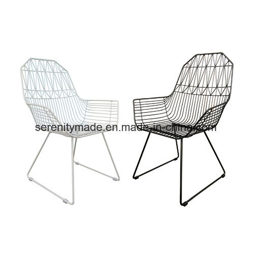 Sensational Patio Furniture Metal Wire Mesh Outdoor Garden Dining Chairs Creativecarmelina Interior Chair Design Creativecarmelinacom
