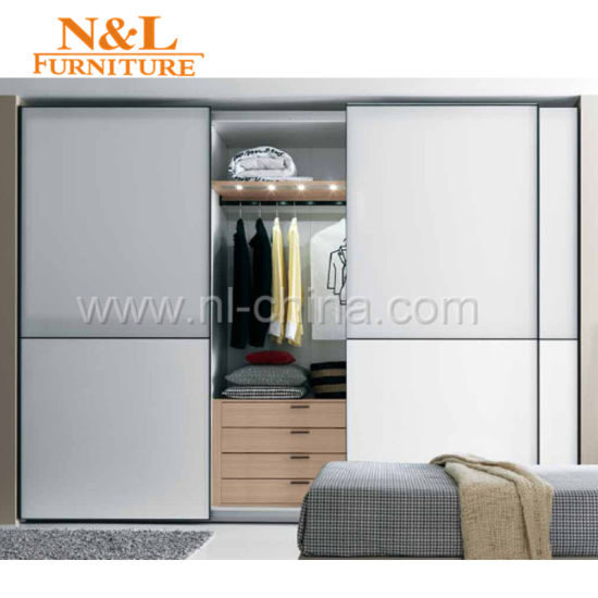 Australia Modern Style Solid Wood Bedroom Wardrobe Armoire