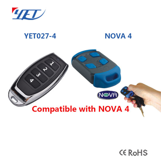 China Replacement Remote Nova Garage Door Remote Control 433 92mhz