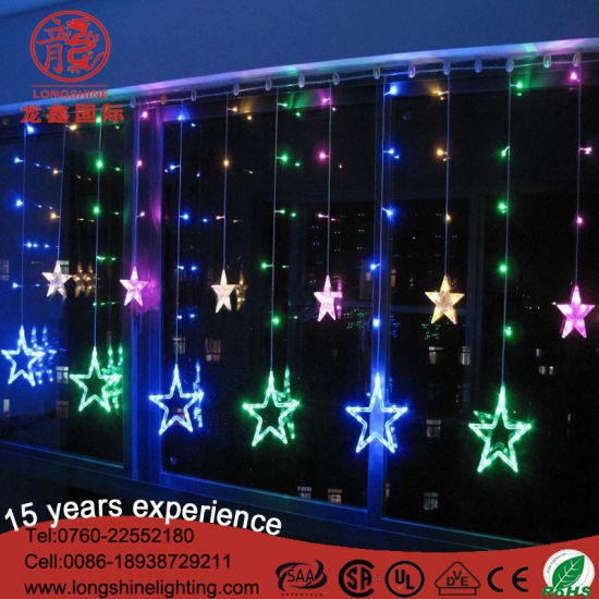 200cm connectable outdoor led star icicle string lights for christmas