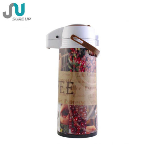 New Design with Cup Glass Inner Vacuum Flask Coffee Tea Jug Airpot pictures & photos