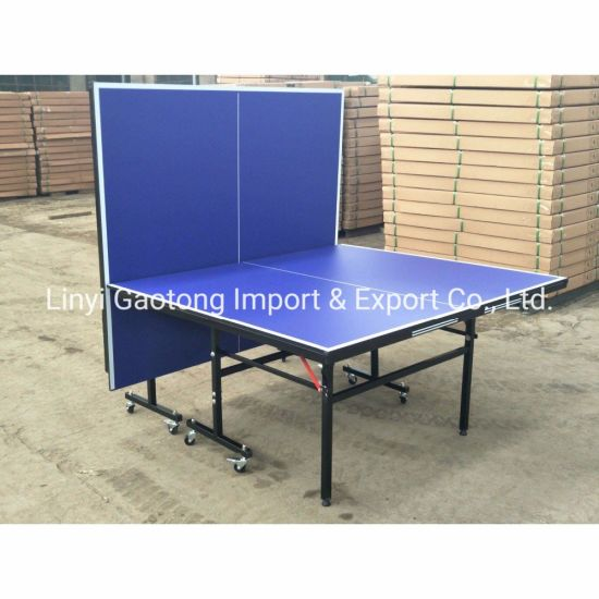 15mm MDF Table Top Board with Nc Painting Ping Pong Game Table Folding Table Tennis Table