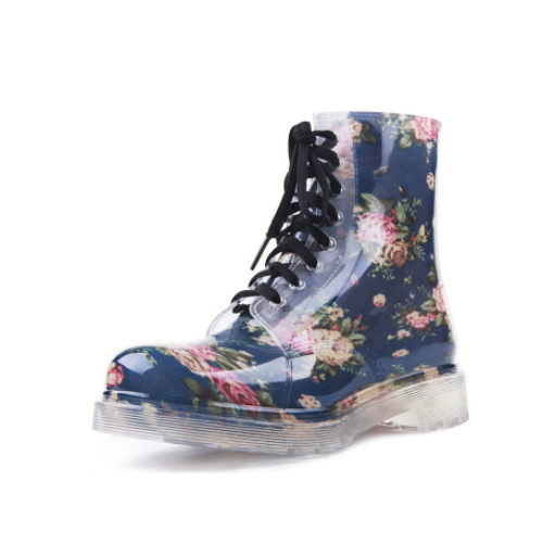 China Factory European Style Clear Rain Boots pictures & photos