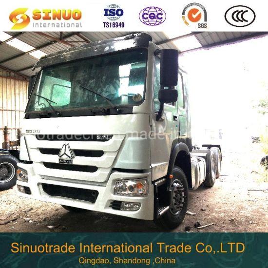 Used 375 Heavy Duty Truck Trailer Head Chinatractor Head Truck 6X4 Sinotruk HOWO 10X Tyres Horse Tractor Truck