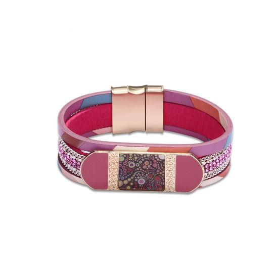 Hotsale Bangle Red Color Women Leather Bracelet