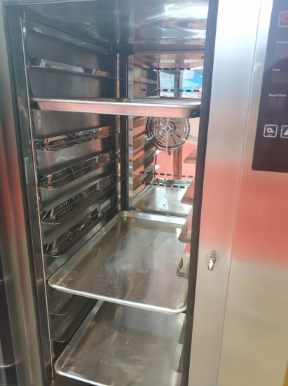Catering Hotel Kitchen Use 15 Trays Hot Air Convection Oven with Spray Function