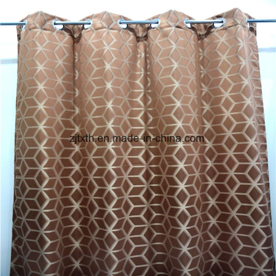 2020 The Cheapest Fabric for Curtain and Colour Geometric Polyester Hotel Room Curtain Fabric pictures & photos