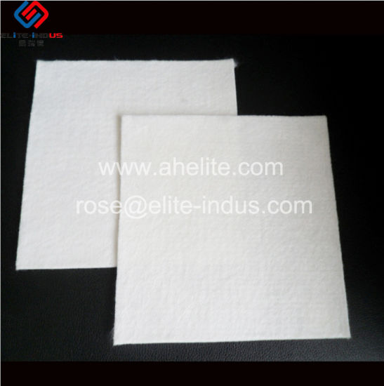 Ground Stabilization White Polypropylene Nonwoven Geotextile Fabric for Tunnel pictures & photos