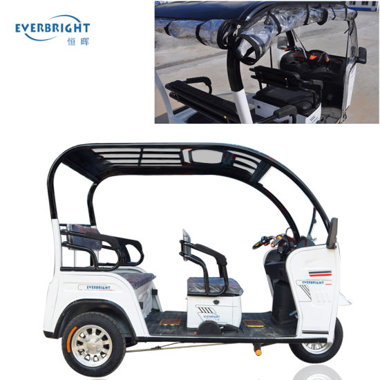 Adult 3 Wheel Auto Rickshaw Electric Passenger Tricycle for Sale