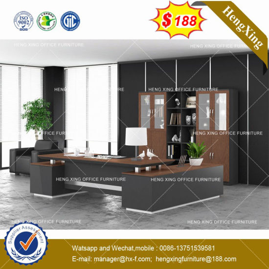 Black Melamine MDF Office Table (HX-8NE023) pictures & photos
