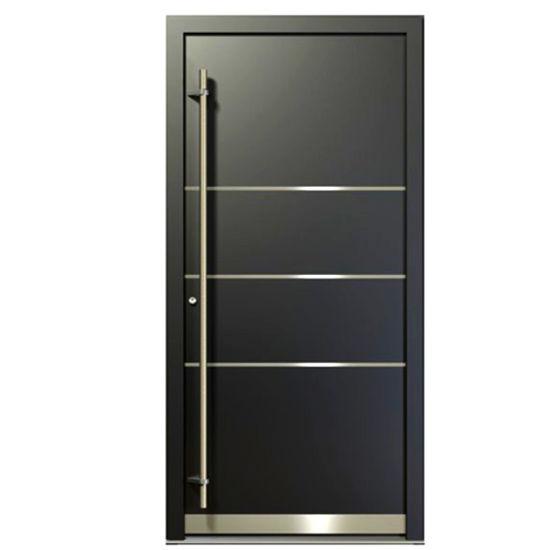 China Gold Supplier Front Door Designs Aluminum Security Steel Door