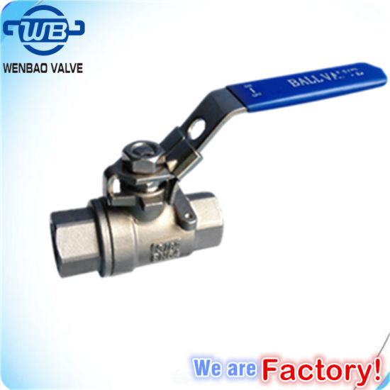 2PC Female Threaded Stainless Steel Ball Valve with Locking Handle pictures & photos