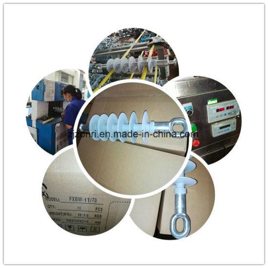 High Voltage Composite Insulator 11kv 70kn Silicon Rubber