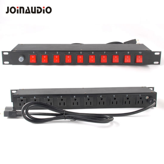 15A 1u Power Distribution Unit PDU for 19inch Cabinet with Single Control Light (MHP-19)