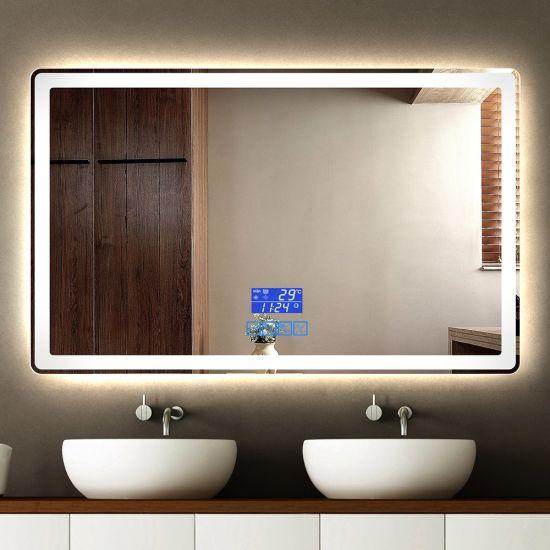 Touch Sensor Bluetooth Illuminated Led Light Bathroom Mirror For Wholesale China Bathroom Led Mirror Mirror Light Made In China Com