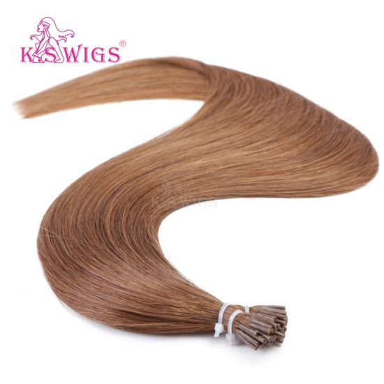 K. S Wigs I Tip Hair  Color #30 Virgin Remy Human Hair Extension pictures & photos