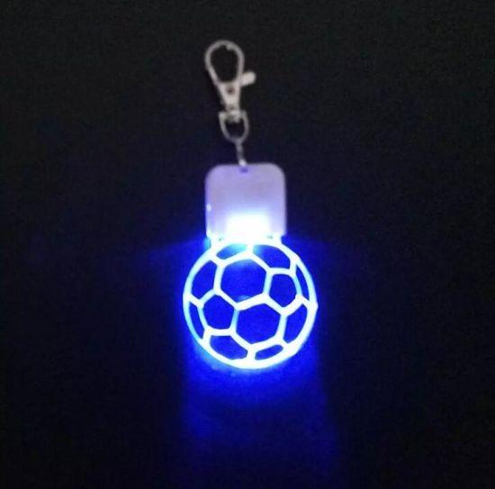 Custom New Design Acrylic LED Flashing Keychain