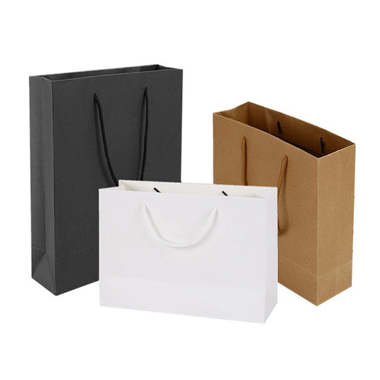 Wholesale White Customized Printed Shopping Packaging Paper Bag