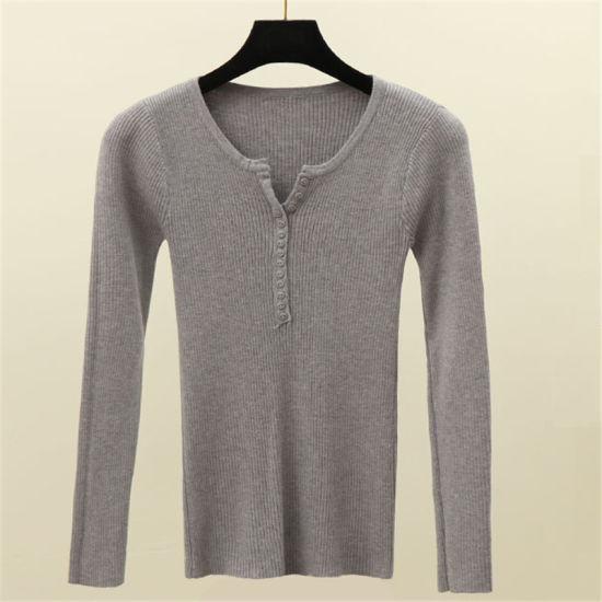Wholesale V Neck Knitwear Merino Wool Sweater