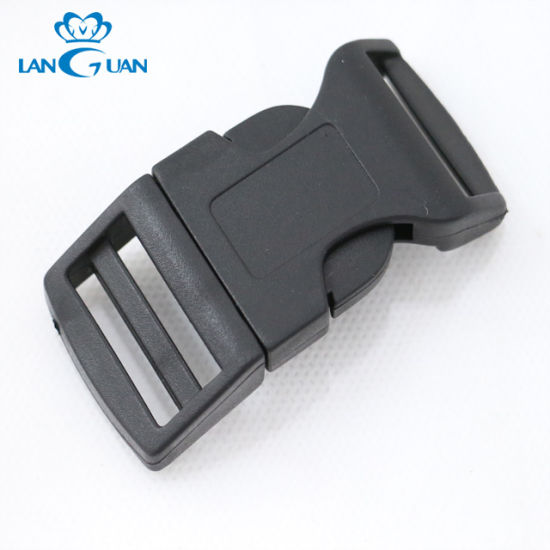 Black Color High Quality Plastic Buckle for Bag Accessories