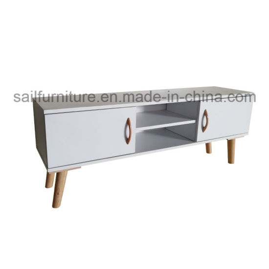 Morden Style TV Stand and Sofa Side Table Cabinets in Living Room and Bed Room