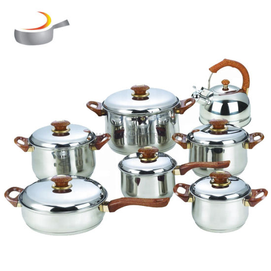 14PCS Stainless Steel Cookware Set with Bakelite Handle
