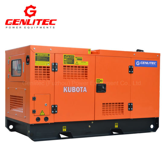 50Hz Single Phase 16kVA Silent Diesel Generator with Kubota V2203-Bg Diesel  Engine