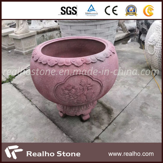 Chinese Style Nature Stone Water Vats with Good Pirce for Gardon pictures & photos