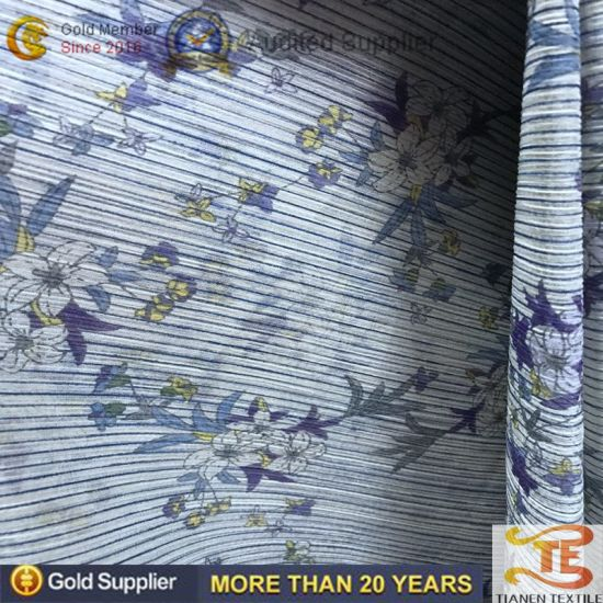 China Wholesale Polyester Printing Chiffon Scarf and Dress Fabrics for Women