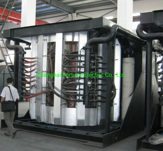 Coreless Medium Frequency Electric Induction Furnace for Melting Cast Iron Stainless Steel Scrap pictures & photos