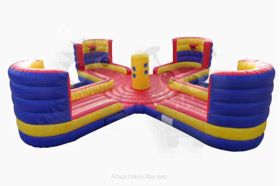 2019 New Inflatable Bungee Run with Basketball Hoop