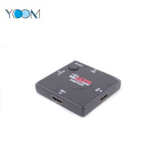 YCOM HDMI 1.4 Switch 3 Input 1 Output HDMI Switch 1080P pictures & photos