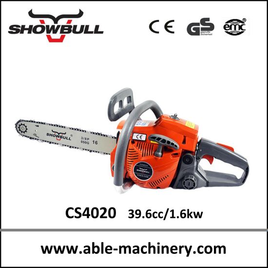 High Quality Gasoline Chain Saw Hand Chainsaw CS4020 pictures & photos