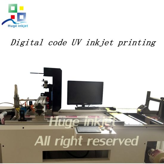 China Commercial Bill Km UV Inkjet Printing System for Qrcode Expiry