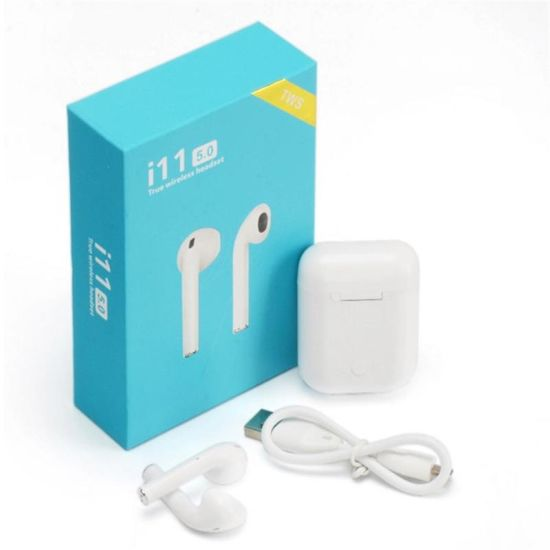 Earphone Bluetooth Earphone Bluetooth Headphone Bluetooth Headset 5.0 Touch White Earbuds Wireless Sport Mini Earbuds Earpiece Headphone with Charging Case I11