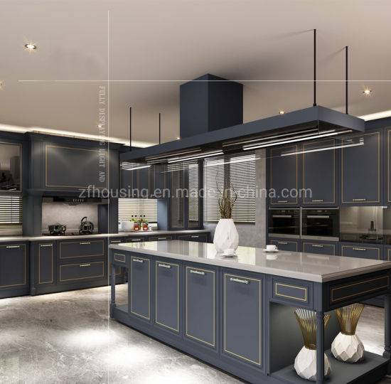 Modern Style Furniture Solid Wood Kitchen Cabinets Zf-Kc-019