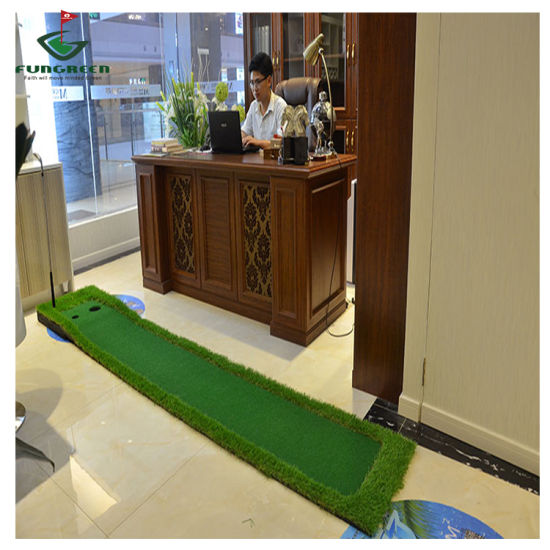 Foldable Size Logo Customized Golf Putting Green Indoor Putting Mat for Indoor