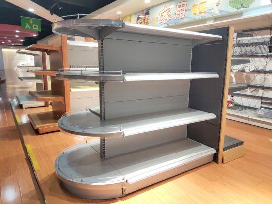 Metal Pegboard Supermarket Tego Display Shelf