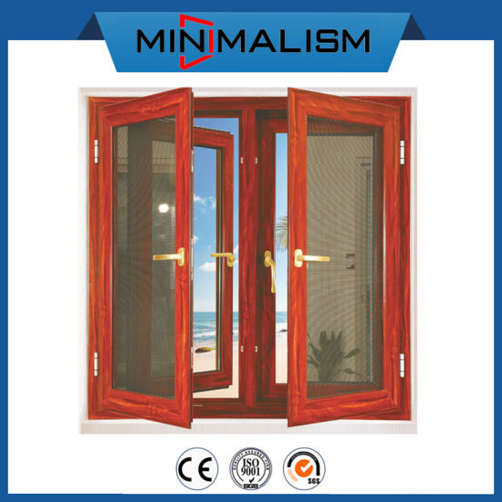 Residential Aluminum Double Casement Window with 2.0mm Material