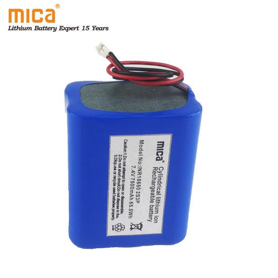 China 18650 Battery 7 4v 7500mah 55 5wh 2s3p High Capacity Emergency Light Back Up Battery Pack China 18650 Battery Emergency Light Battery