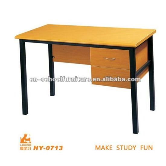 Teacher Table with Drawer of Wooden Metal School Furniture pictures & photos