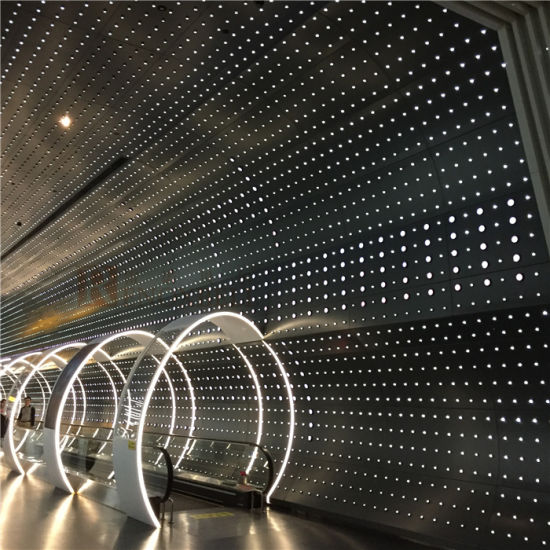 Curved Shape Perforated Aluminum Panels for Interior Wall Decoration pictures & photos